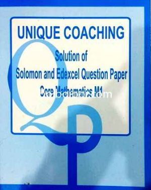 Worked Solution Of Solomon And Edexcel Question Paper M1